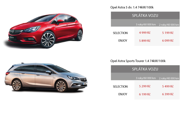 Opel Astra leasing